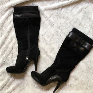 Knee high black Guess boots